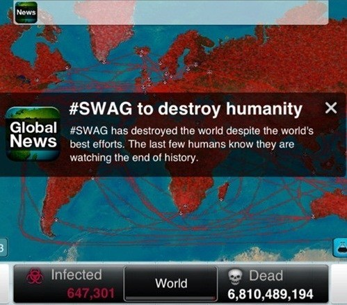 swag hashtags plague inc - 7258776320