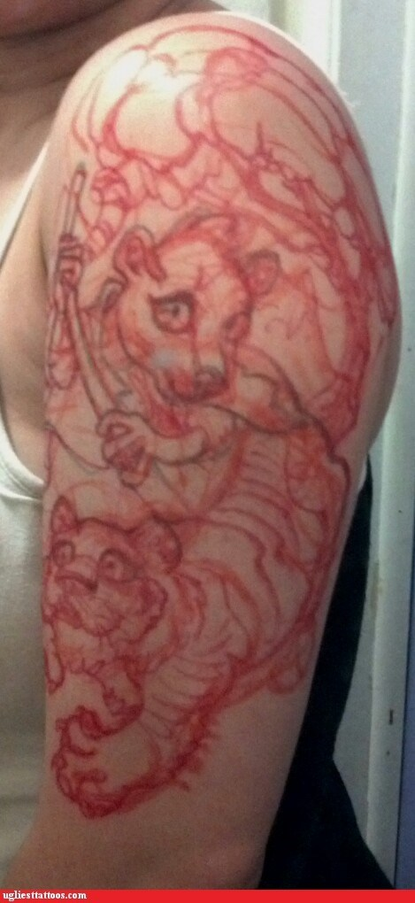 animals arm tattoos the lion king - 7259189760