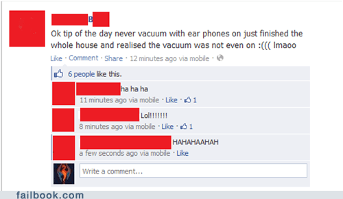 Music,listening to music,headphones,vacuuming,failbook,g rated
