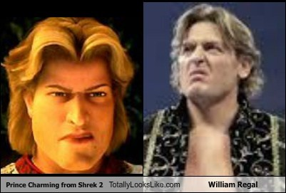 prince charming,william regal,totally looks like,shrek