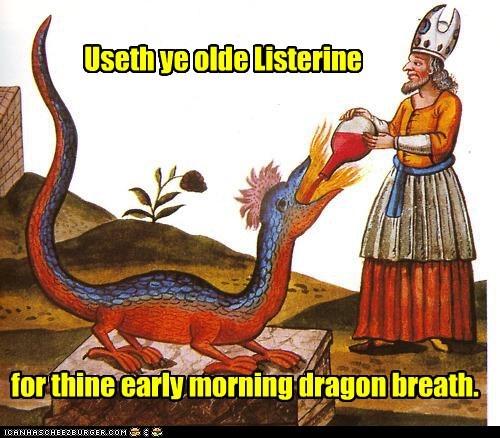 listerine medieval dragons - 7260851968