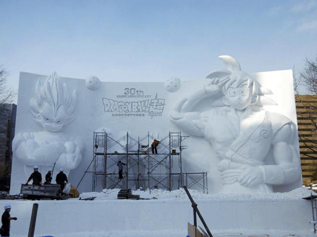 anime Dragon Ball Z snow - 726277