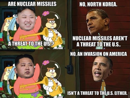 obama,kim jung-un,North Korea,SpongeBob SquarePants,current events,politics