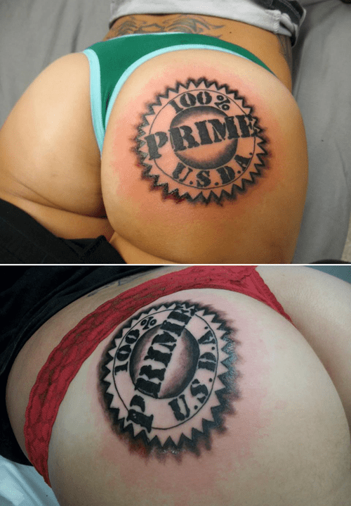 butt tattoos,motherdaughter,prime usda