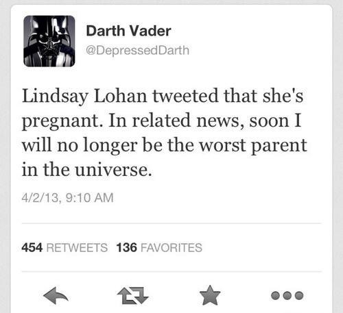twitter april fools pregnant darth vader lindsey lohan - 7264835840