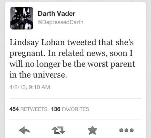 twitter april fools pregnant darth vader lindsey lohan - 7264835840
