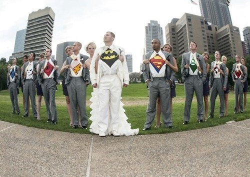 Groomsmen t shirts superheroes