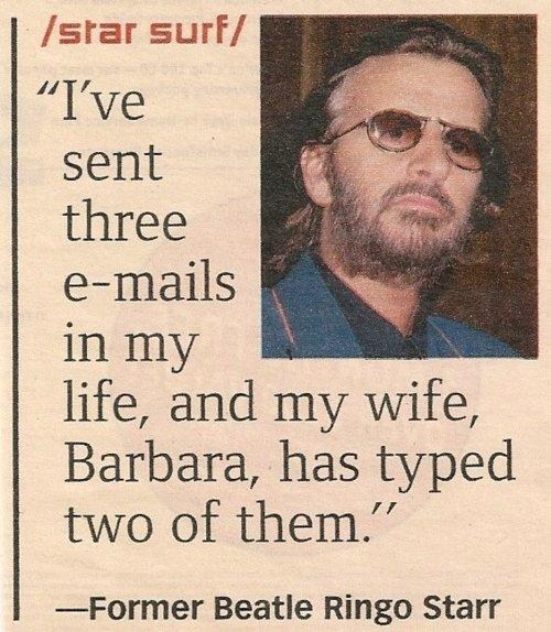 email the Beatles ringo starr - 7265614080