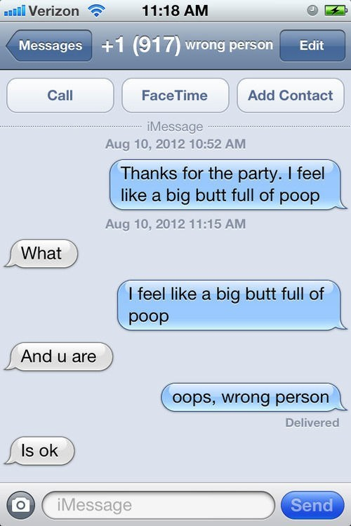 wrong number poop too full funny AutocoWrecks - 7265619200