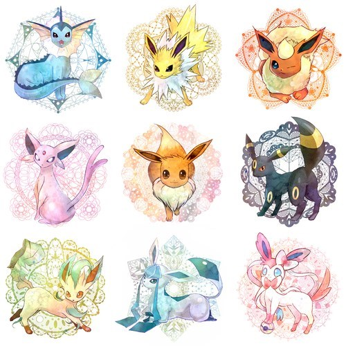 art,eeveelutions,dawww,cute