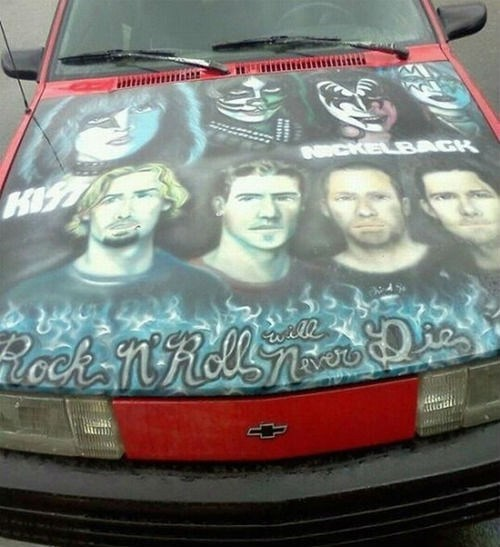 airbrush hoods KISS nickleback