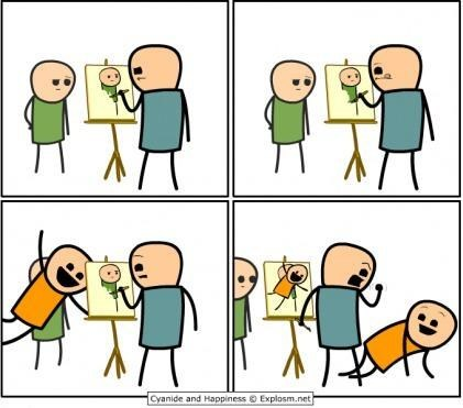comics cyanide and happiness painting - 7266367488