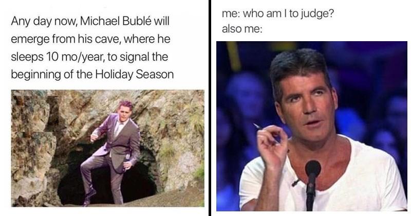 Funny random memes, web comics, christmas, holidays.