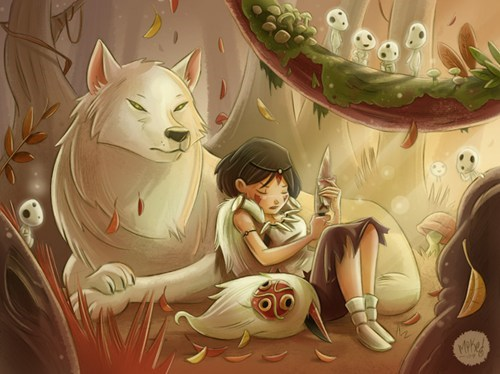 anime,Fan Art,studio ghibli,princess mononoke