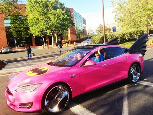 car IRL batgirl - 7267163648