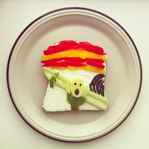 The Scream art toast food - 7267786752