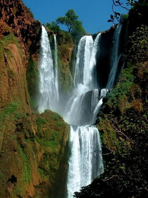 morocco,landscape,waterfall