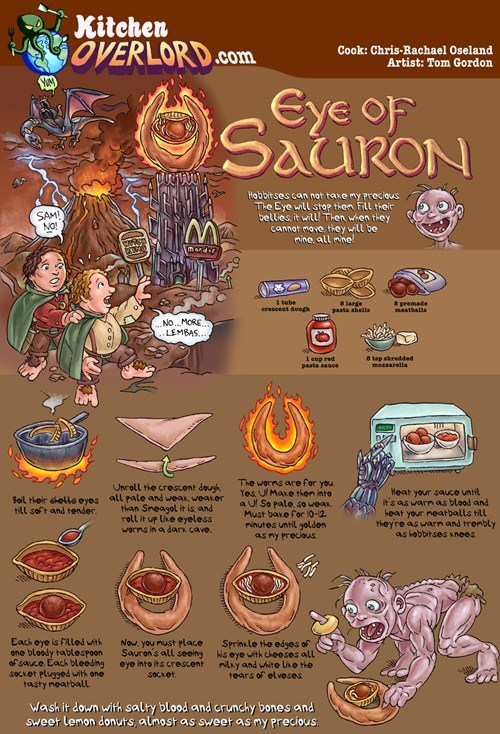 Lord of the Rings kitchen overlord food noms - 7267978752