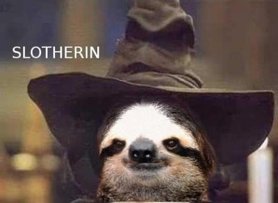 Harry Potter evil slytherin sloth - 7268158720