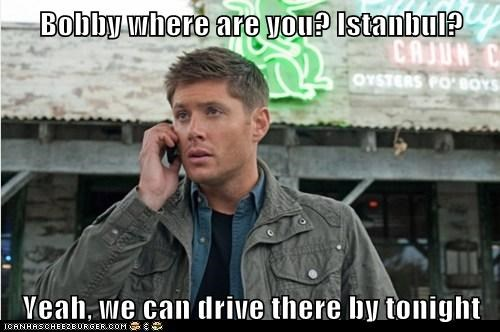 Supernatural,dean winchester,driving