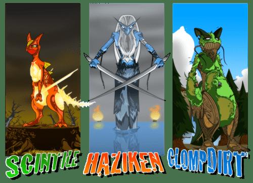 gen III Pokémon art starters - 7268279040