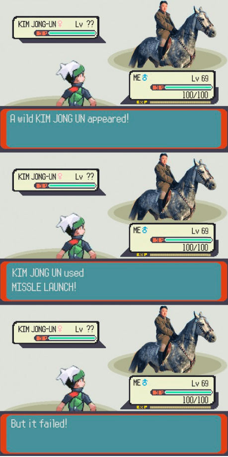 kim jong-un Pokémon North Korea battles - 7268364032