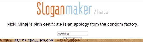 apology,nicki minaj,sloganmaker