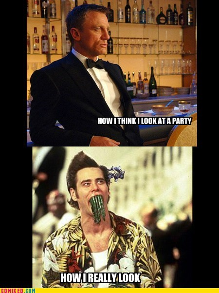 expectation vs. reality,jim carey,asparagus,james bond