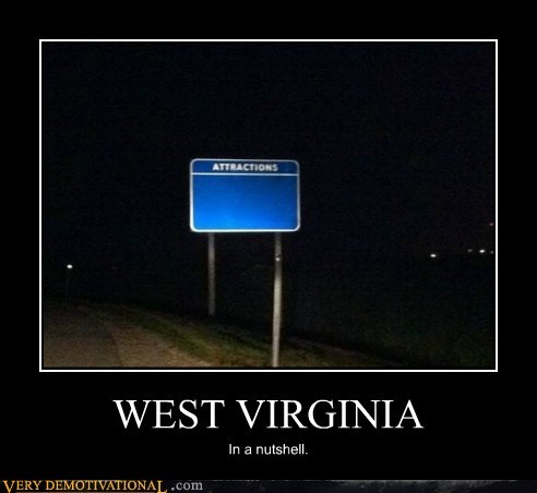 west virgina signs nutshell attractions