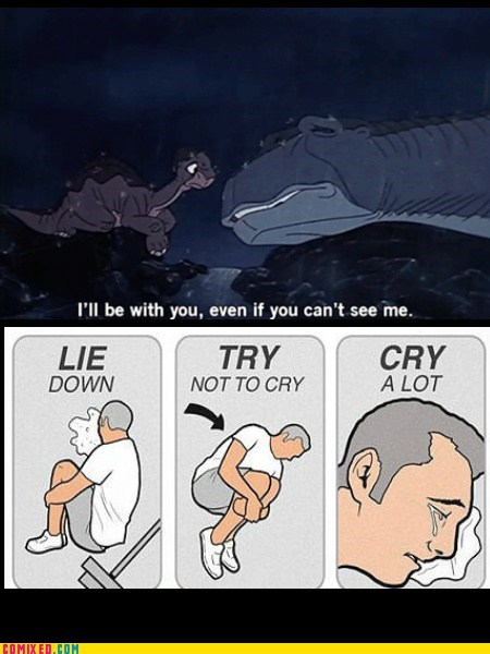 Sad,Land Before Time,cry a lot,animation,little foot,dinosaurs