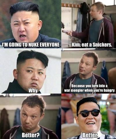 kim jung-un,North Korea,snickers