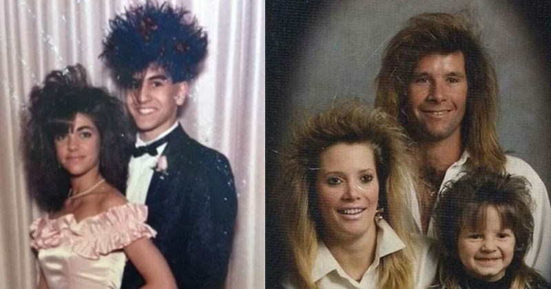 hair pics fashion school photo teenagers school pictures cringe nostalgia Photo family prom big hair cringeworthy - 7276037