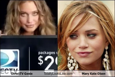 totally looks like direct tv Mary Kate Olsen