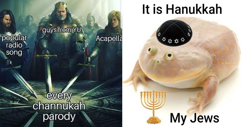 cover image of funny Hanukkah memes