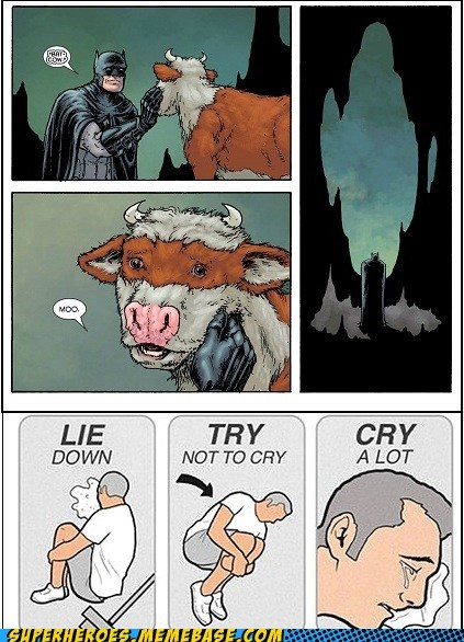 Sad,bat cow,batman,damien