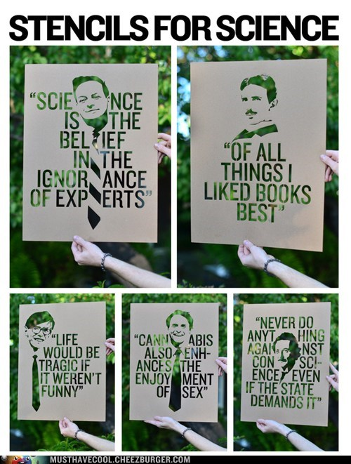 quotes Street Art stencils science