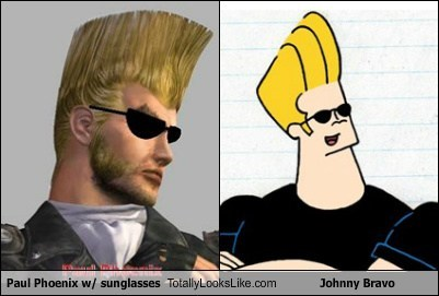 hair,sunglasses,johnny bravo,totally looks like,paul phoenix