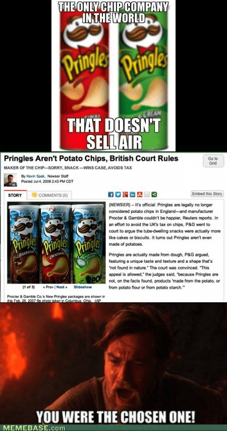 star wars potato chips pringles chosen one - 7287066880