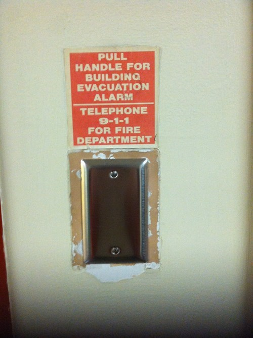 signs fire alarm there I fixed it