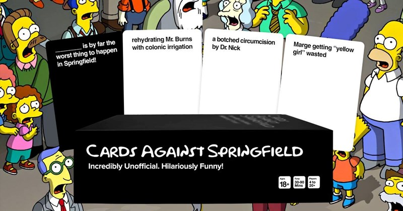 funny cards cards the simpsons cards against humanity - 7287301