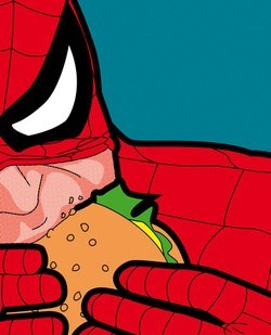 Spider-Man burger art food - 7289225216