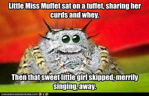 spiders,little miss muffet,story