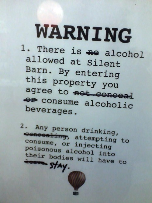 alcohol signs liquor license