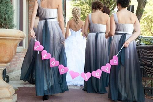 bridesmaids hearts wedding photos - 7293883136