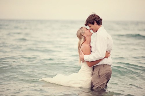 ocean,ruined dress,beach wedding