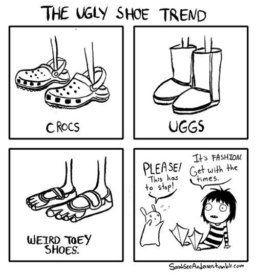 comics,uggs,crocs