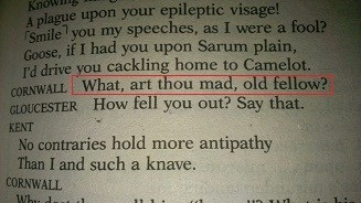 u mad shakespeare problem u mad bro