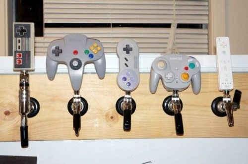 After 12 Party Fail of a beer taps made out of video game controllers.