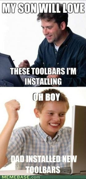 first day on the internet kid,Net Noob,toolbars