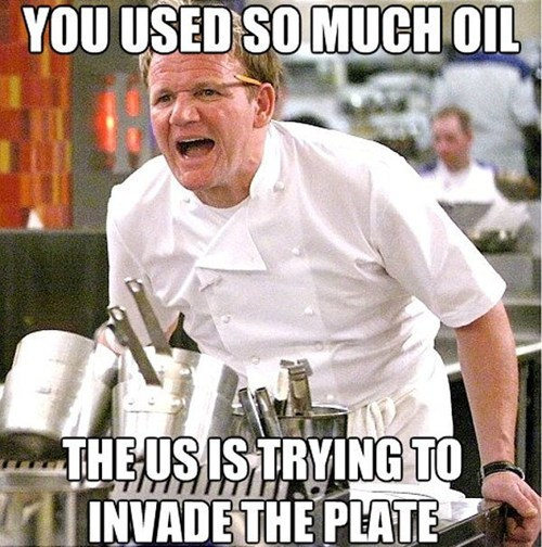 gordon ramsay,oil,politics